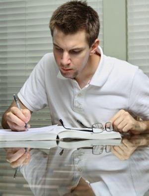 man_writing_book_blog